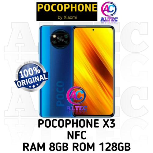 Foto Produk PocoPhone Poco X3 nfc 8/128 RAM 8GB ROM 128GB GARANSI RESMI - Cobalt Blue dari Altec Cellular