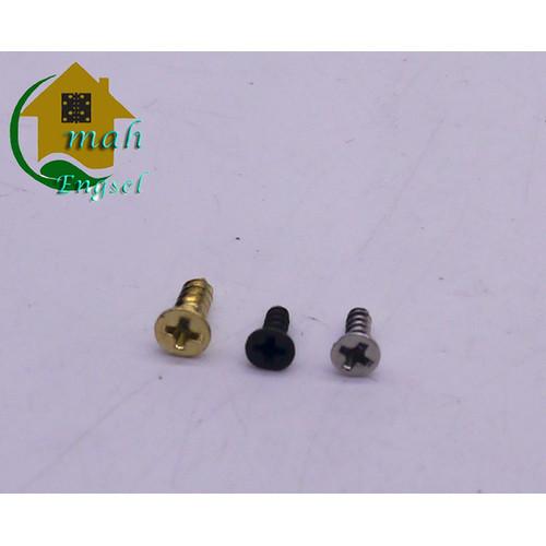 Foto Produk Sekrup skrup mini 4 x 5 mm screw skrup kecil untuk kunci box 3 warna - Gold emas dari Omah Engsel
