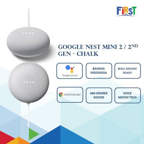 Foto Produk Google Nest Mini 2 / 2nd Gen - Chalk dari First Media Store