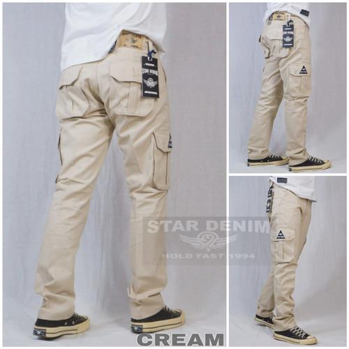 Foto Produk celana cargo pria / celana panjang pria cargo pdl terbaru premium - cream, 34 dari playjeans