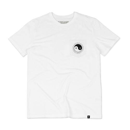 Foto Produk BABY ZOMBIE - Tshirt Yin Yang White - M dari Baby Zombie Co.
