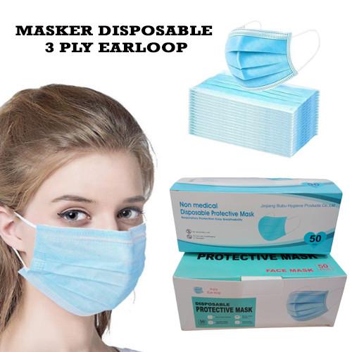 Foto Produk Masker Arai 3 Ply Masker Disposable Earloop Protective Mask Isi 50Pcs dari AnerStore