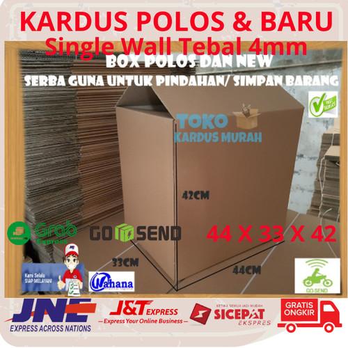 Foto Produk KARDUS PACKING KARDUS BARU KARDUS POLOS KARDUS BESAR ( 44 x 33 x 42 ) dari tokokarduskardus