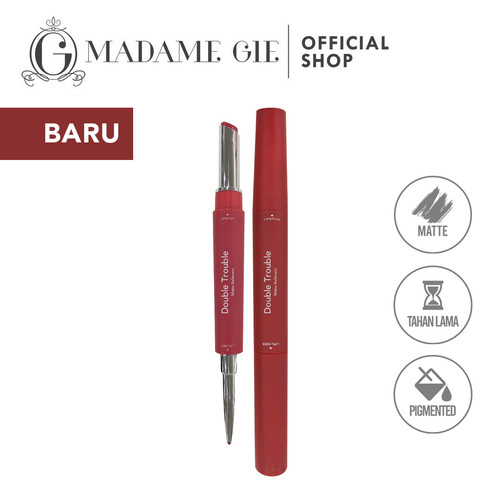 Foto Produk Madame Gie Double Trouble Matte - MakeUp Lipstick Two in One - Trouble Matte02 dari Madame Gie Official