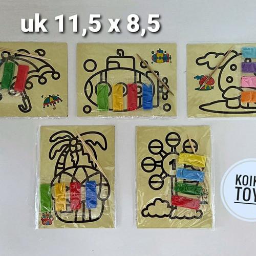 Foto Produk Mewarnai pasir ukuran kecil mainan pasir anak stiker pasir mainan eduk - perempuan dari Koikia Toys