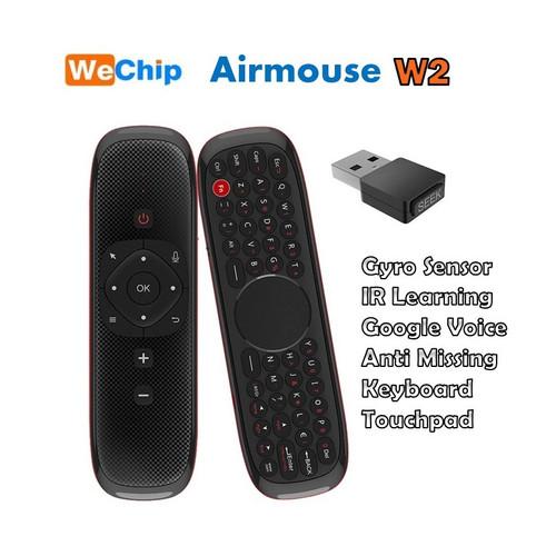 Foto Produk Wechip W2 Air Mouse Keyboard Wireless 2.4g Touchpad Google Voice dari D zone shop