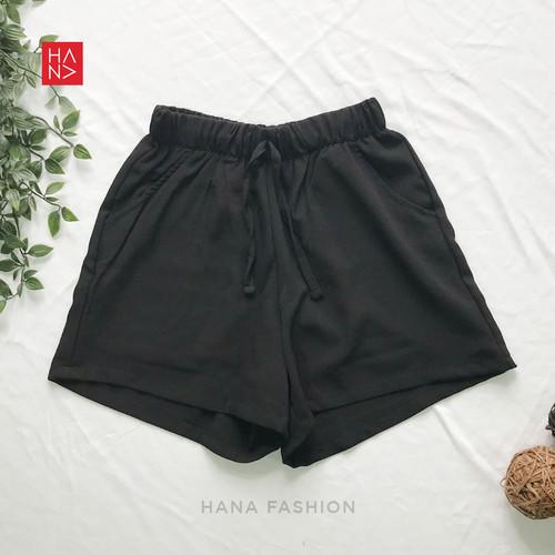 Foto Produk HanaFashion - Tiara Short Pants Celana Pendek Wanita - SP041 - Black, S dari hanafashion_shop
