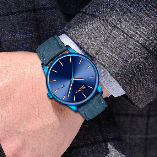 Foto Produk jam tangan BIDEN fashion leathre band casual bisnis sport style jam dari BIDEN Official Store