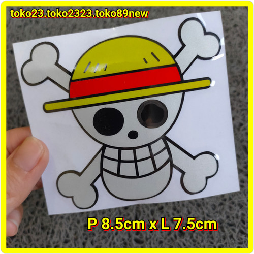 Foto Produk stiker motor one piece stiker cutting tengkorak ukuran sedang dari toko89new