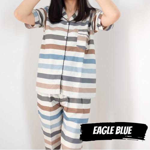 Foto Produk Baju Tidur Eagle Blue CPJ piyama wanita katun premium celana panjang dari Warna Piyama