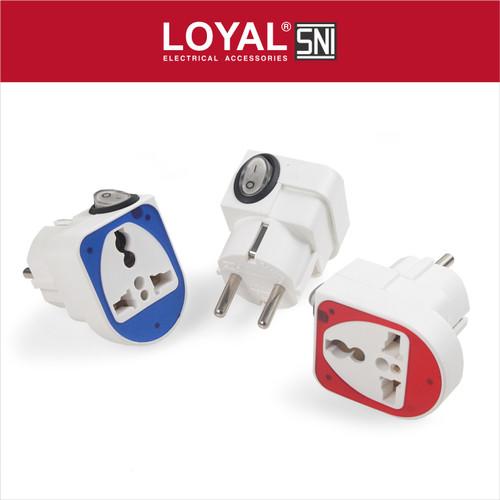 Foto Produk Steker Serbaguna + Saklar (LY-922SK) (SNI) - Putih dari LOYAL Official Store