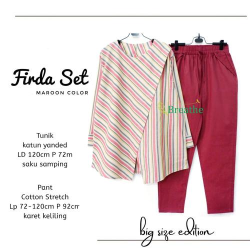 Foto Produk New Frida Set Setelan Celana Wanita Jumbo Baju Kerja Big Size Modis dari Ilyassa Shop