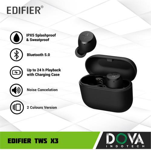 Foto Produk EDIFIER TWS X3 True Wireless Bluetooth Earphone aptX IPX5 Splash Proof - Hitam dari Dova Indotech