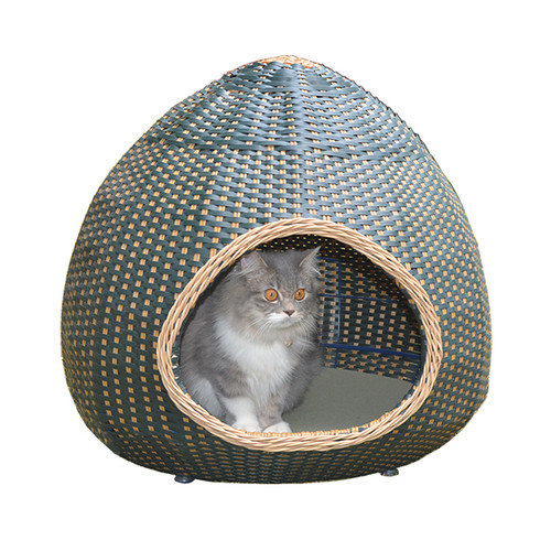 Foto Produk Tilly Cat Bed/ Pet Bed/ Rumah/ Tempat Tidur Kucing Rotan Sintetis Lucu dari LOUIS BUDDIES