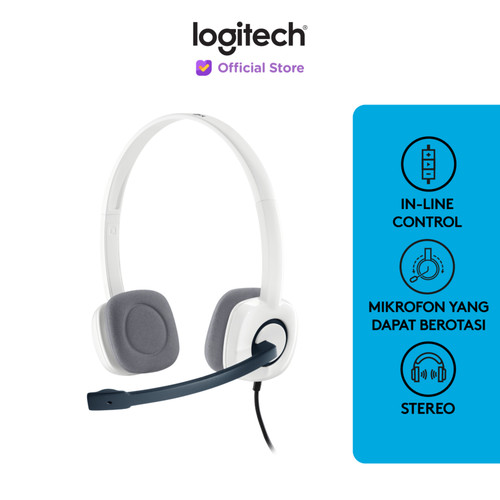 Foto Produk Logitech H150 Stereo Headset - Cloud White dari Logitech Official Store