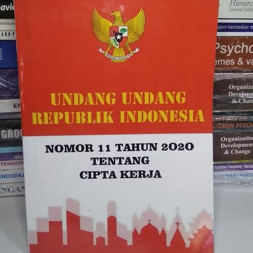 Foto Produk UU OMNIBUS LAW Cipta Kerja Nomor 11 Tahun 2020 ( ADA DAFTAR ISINYA ) dari Lembah Buku