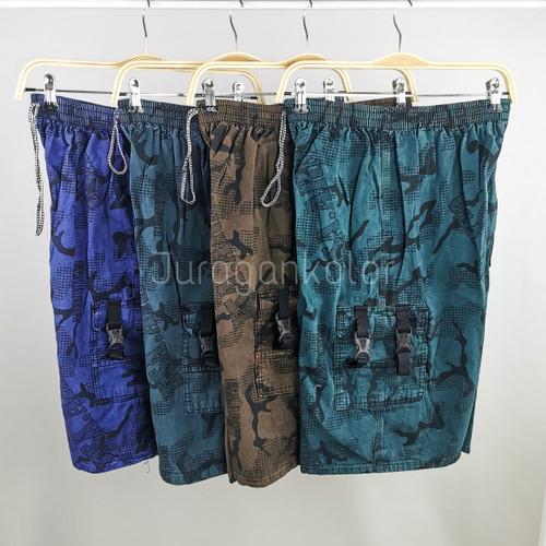Foto Produk Celana Pendek Pria Cargo Kanvas Denim Loreng Army -CKL.Canvas dari JuraganKolor