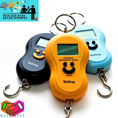 Foto Produk Timbangan Smile Gantung 50kg Digital Portable Scale Backlight dari Klik-Beli Official