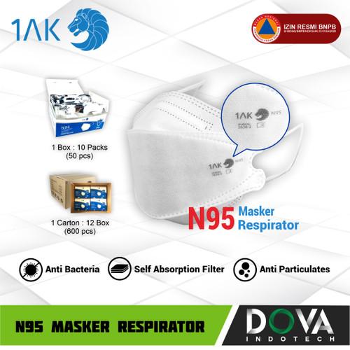 Foto Produk MASKER N95 4 Layers 1AK - Medical Grade - FDA Certified - PFE 95% FFP2 dari Dova Indotech