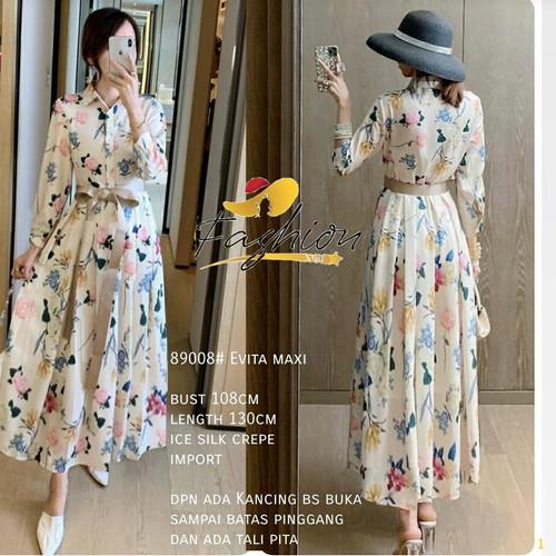 Foto Produk DRESS PAKAIAN WANITA EVITA MAXI DRESS FLOWER   X503 dari Fashionstar_jkt88