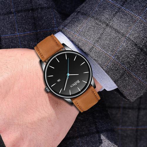 Foto Produk BIDEN jam tangan pria Santai Mode Bisnis Tahan Air Kuarsa Jam Tangan dari BIDEN Official Store