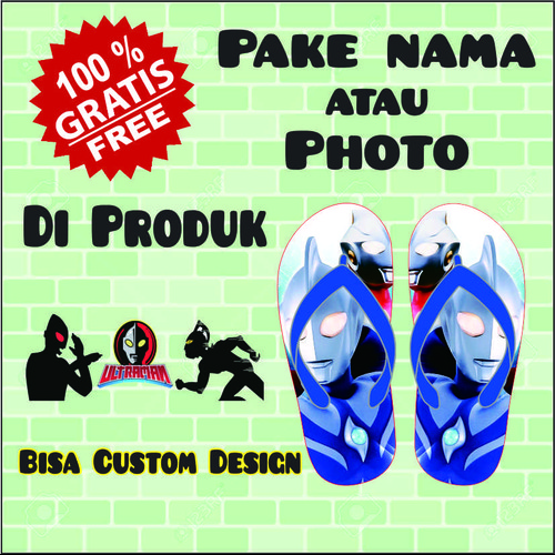 Foto Produk sandal jepit karakter ultraman - Tali Jepit dari casaloma