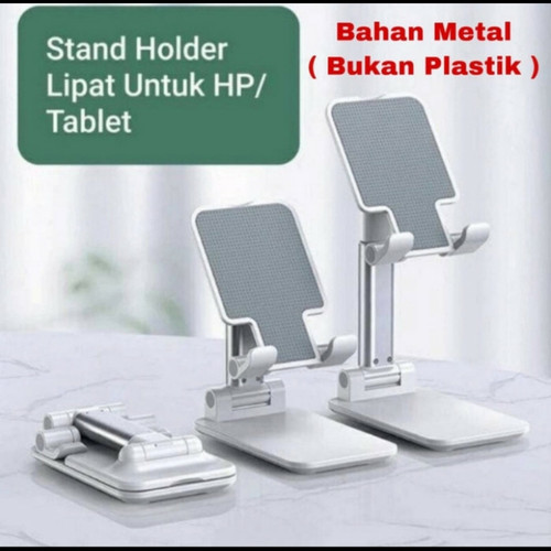 Foto Produk holder folding desktop phone stand / dudukan hp bahan metal dari ong star acc
