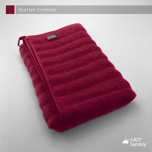 Foto Produk Handuk Mandi Premium LAZY Sunday , EXPORT QUALITY !! - Scarlet Crimson dari LAZY Sunday Store