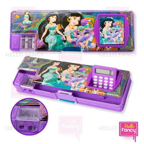 Foto Produk Tempat Pensil Magnet Karakter + Kalkulator / Kotak Pensil CC-7806 - Jasmine dari Hello Fancy