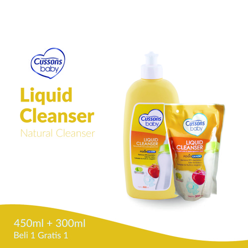 Foto Produk [PROMO] Cussons Baby Liquid Cleanser Botol 450ml + Refill 300ml dari Mugan Home