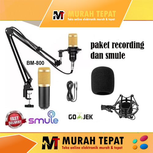 Foto Produk Paket hemat Taffware MIc Microphone Condenser - BM800 - BM-800 bm 800 - mic gold dari Murah Tepat