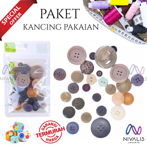 Foto Produk KANCING BAJU IMPORT / KANCING BAJU PAKET CAMPUR MIX / AKSESORIS JAHIT dari Nivalis Jakarta