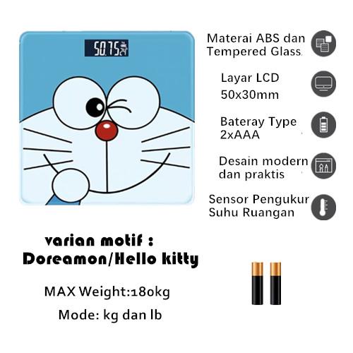 Foto Produk Timbangan Badan Digital Desain Kartun 180 Kg - doreamon dari Yuan Mart