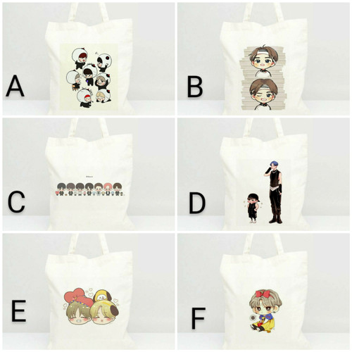 Foto Produk Tote Bag Canvas BTS Fanart (design custom) dari GH Official Store