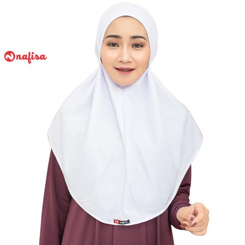 Foto Produk Nafisa Hijab At Home Size M | Jilbab Instan Tali Kerudung Kaos Non Pet - Putih, M dari Nafisa