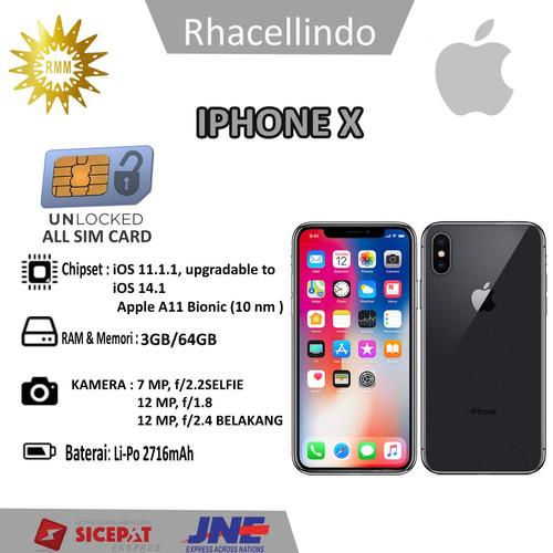Foto Produk Iphone x 256GB fullset second original mulus dari Rhacellindo Multimedia