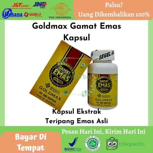 Foto Produk Goldmax Gamat Emas Kapsul 100% Original-Obat Herbal Diabetes & Lainnya dari MP Herbal