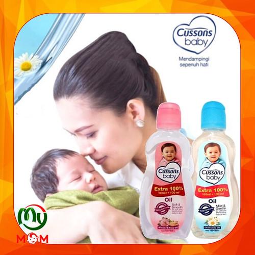 Foto Produk Cussons Baby Oil 50ml + 50ml / Cussons Oil Minyak Bayi / MY MOM - Oil Pink 50 50 dari mymom
