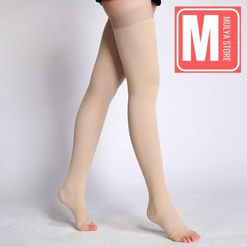 Foto Produk Stoking Kompresi Varises Sepaha Medical Compression Stocking Thigh - Black, S dari Mulya Store