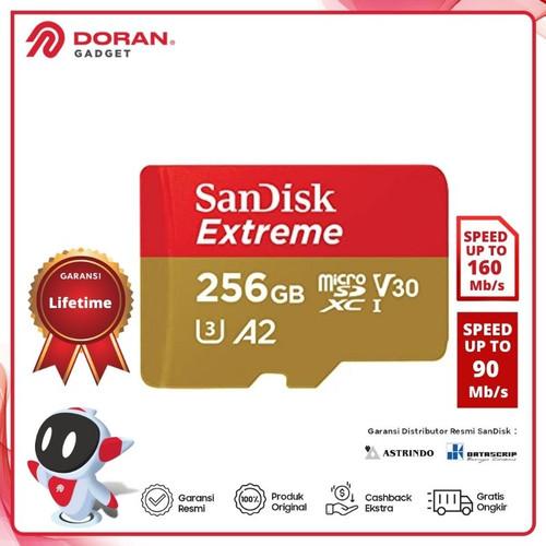 Foto Produk SANDISK EXTREME MICRO SD UHS-I 256GB - MICRO SDHC 256 GB dari Doran Gadget