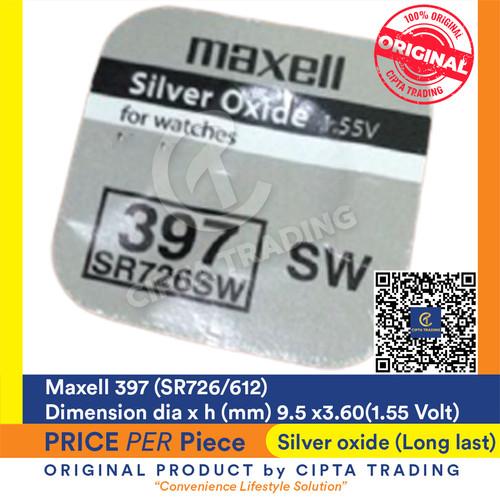 Foto Produk Button Cell - Maxell - 397 (SR726SW) dari Cipta Trading