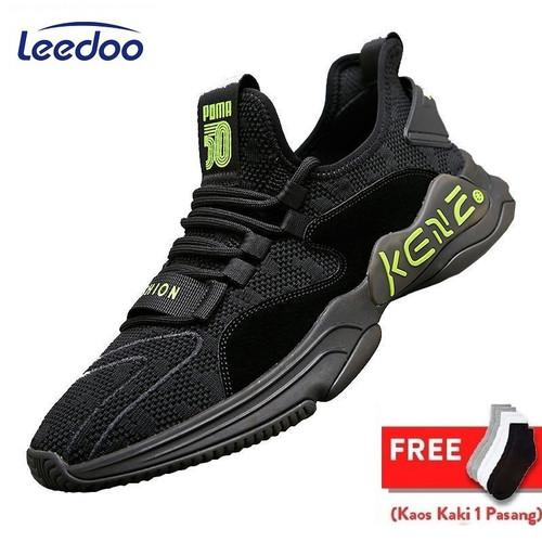 Foto Produk Leedoo Sepatu Import Sneakers Pria Sepatu Lari Running Casual MR124 - Hitam, 39 dari Leedoo