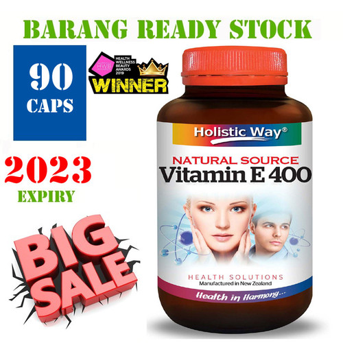 Foto Produk VITAMIN E / Holistic Way Vitamin E 400 IU (Natural Source) 90 CAPS dari Health House Indonesia