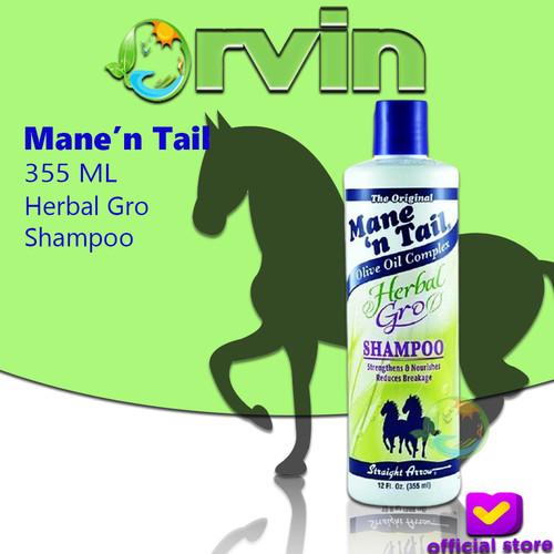 Foto Produk MANE N TAIL HERBAL GROWTH SHAMPOO 355ML / MANE N TAIL SHAMPOO KUDA dari Orvin Health & Beauty