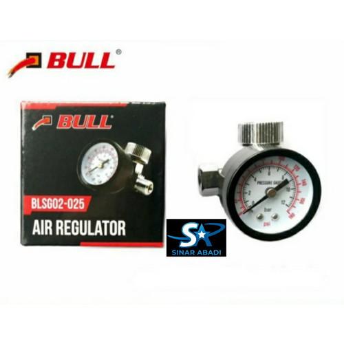 Foto Produk BULL AIR REGULATOR KOMPRESOR 12 BAR 1/4 INCH PENGATUR TEKANAN ANGIN dari Sinar Abadi Medan