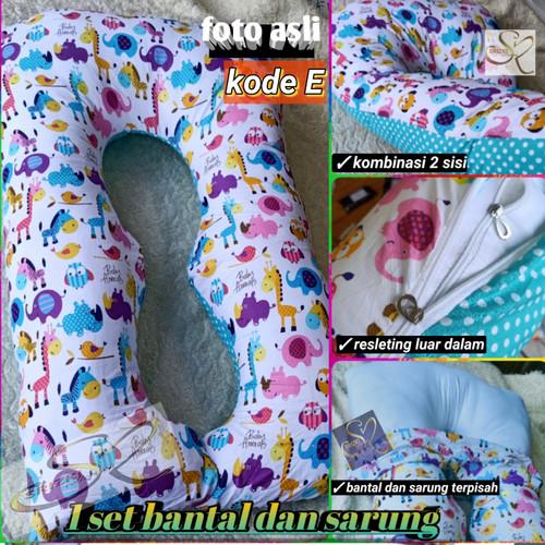 Foto Produk bantal hamil dan menyusui isi + sarung stary night dari srizki collection