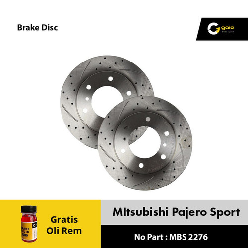 Foto Produk Brake Disc Rotor Mitsubishi PAJERO SPORT GAIA MBS2276 Original dari NEW INTI OTOPART BANDUNG