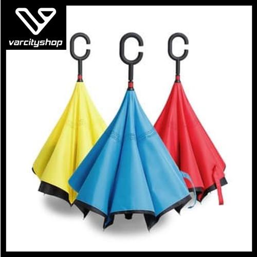Foto Produk Payung Kazbrella Payung Terbalik Reverse Umbrella Gagang C dari varcityshop