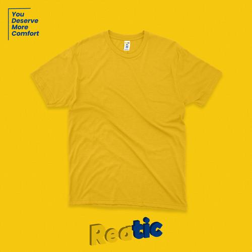 Foto Produk Reatic Kaos Polos Oblong Cotton Heavyweight - Kuning dari Reatic