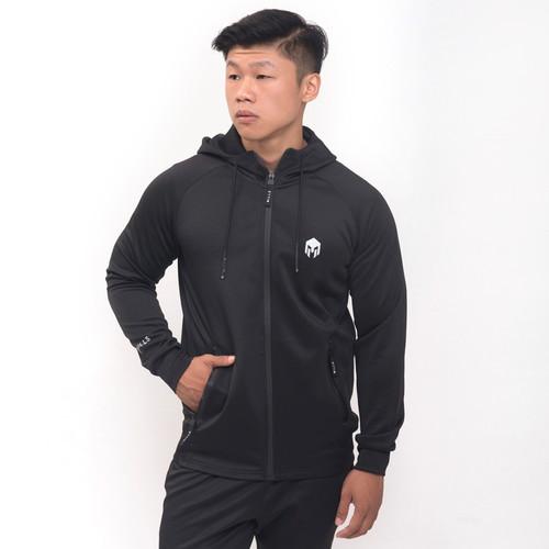 Foto Produk Jaket Olahraga Mills , Style : Sonic Hoodie Jacket , Code : 8002 Black - Hitam, 3XL dari MILLS Official
